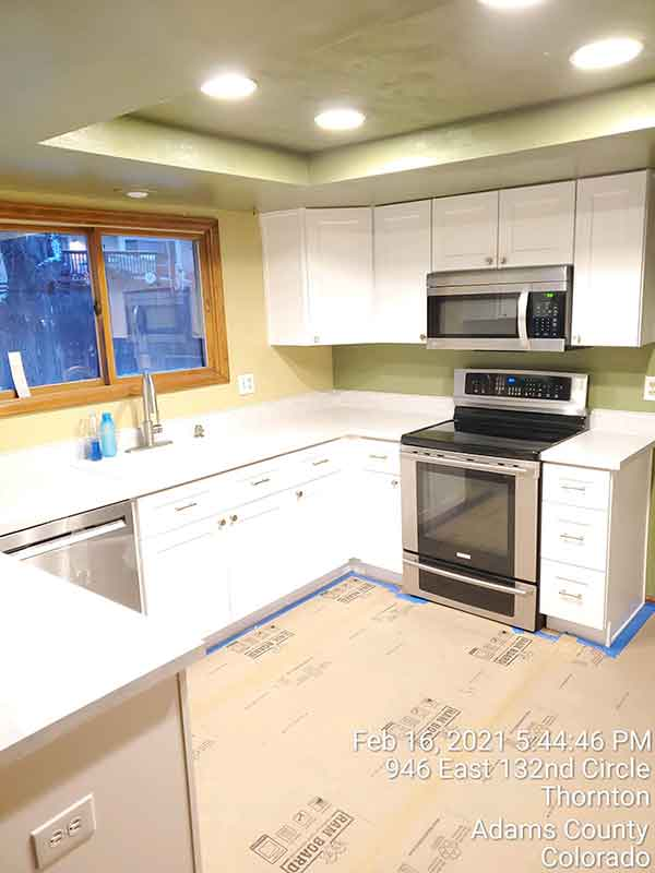 Blue Ribbon Exteriors and Construction builds a beautiful kitchen
